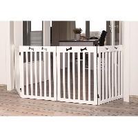 Securite - Protection TRIXIE Barriere pour chiens 4 parties MDF 60-160 cm Blanc