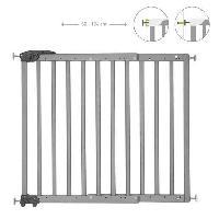 Securite Bebe Badabulle Deco Pop Grise Barriere de Securite Extensible Fixation Pression et Vis -63.5 - 106cm- Babymoov