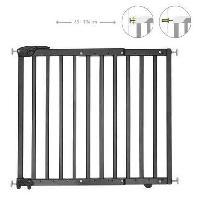 Securite Bebe Badabulle Deco Pop Noire Barriere de Securite Extensible Fixation Pression et Vis -63.5 - 106cm- Babymoov