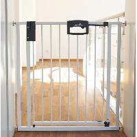Securite Bebe Barriere Easylock a fixer 6876 cm - Pression - Blanc
