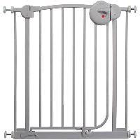 Securite Bebe Barriere de Porte Metal Gris Cendre Mat