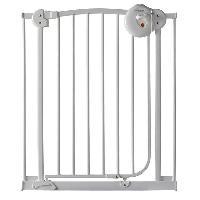 Securite Bebe Barriere de Porte Metal Laque Blanc