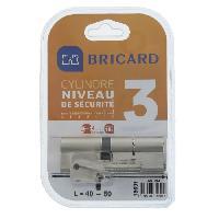Securite Maison BRICARD ASTRAL 15691 Cylindre 40+50 mm double entrée laiton nickelé