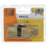 Securite Maison BRICARD PRATIC 1442 Cylindre 30+30 mm en laiton a bouton / niveau de sécurité 1