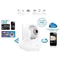 Securite Maison Bluestork Camera Cloud HD motorisee d'interieur Wi