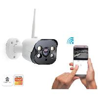 Securite Maison CALIBER Camera exterieur wifi avec eclairage led