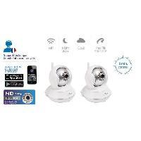 Securite Maison PACK X2 CAMERAS IP HD ROTATIVE WIFI VISION DE NUIT