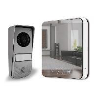 Securite Maison Visiophone couleur 7 pouces ultra plat design effet miroir