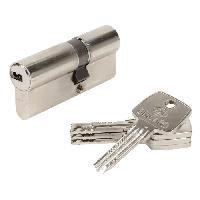 Serrure - Barillet - Cylindre - Cadenas - Verrous - Antivol ASTRAL 15671 Cylindre 30+40 mm double entree laiton nickele