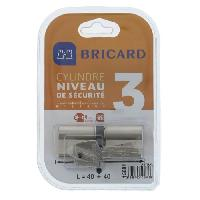Serrure - Barillet - Cylindre - Cadenas - Verrous - Antivol ASTRAL 15681 Cylindre 40+40 mm double entree laiton nickele