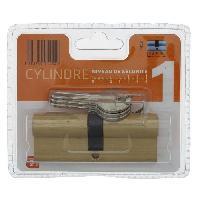 Serrure - Barillet - Cylindre - Cadenas - Verrous - Antivol PRATIC 1452 Cylindre 40+40 mm en laiton double entree niveau de securite 1