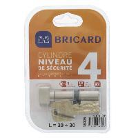 Serrure - Barillet - Cylindre - Cadenas - Verrous - Antivol SERIAL XP 18004 Cylindre 30+30 mm a bouton nickele niveau de securite 4