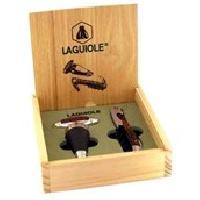 Service Aperitif - Oenologie Coffret cadeau Laguiole sommelier + bouchon - noir