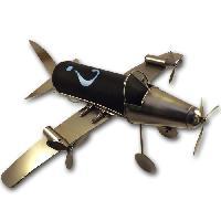 Service Aperitif - Oenologie Sujet metal Avion - noir
