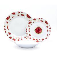 Service De Table ABS - T1903300-X - Service de table - 18PCS - En porcelaine - Gamme Pasteque