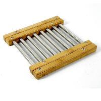 Service De Table Dessous de plat extensible en bambou et inox de forme rectangulaire