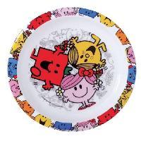 Service De Table Fun House monsieur madame assiette micro-ondable pour enfant