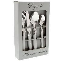Service De Table LAGUIOLE Ménagere 16 pieces manches gris uni