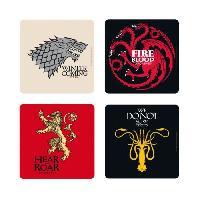 Service De Table Set de dessous de verres (4) Game Of Thrones - Maisons - ABYstyle