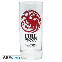 Service De Table Verre Game Of Thrones - Targaryen - ABYstyle