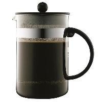Service Petit Dejeuner BODUM BISTRO Cafetiere piston 12 tasses/1.5L noir