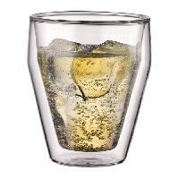 Service Petit Dejeuner BODUM TITLIS Set 2 verres double paroi empilable 0.25L
