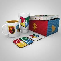 Service Petit Dejeuner Coffret Cadeau HP HOUSE PRIDE - Un Mug. un Verre et deux Dessous de Verre - GB eye