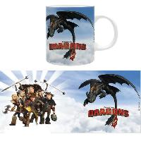 Service Petit Dejeuner Dragons - Mug - Cavaliers de Beurk - 320 ml - Ceramique - Avec boite