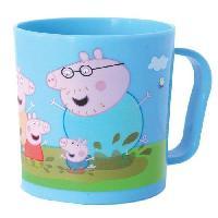 Service Petit Dejeuner Fun House Peppa Pig mug. tasse micro-ondable pour enfant