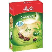 Service Petit Dejeuner MELITTA 80 filtres a café Bambou 1x4