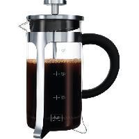 Service Petit Dejeuner MELITTA Cafetiere a piston Micro-Ondable Premium en verre et inox 3 tasses