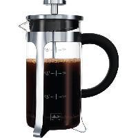 Service Petit Dejeuner MELITTA Cafetiere a piston Premium en verre et inox 8 tasses