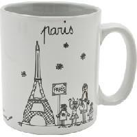 Service Petit Dejeuner Mug Ceramique Tour Eiffel