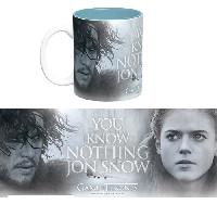 Service Petit Dejeuner Mug Games Of Thrones - 460 ml - You Know Nothing - avec boite x2 - ABYstyle