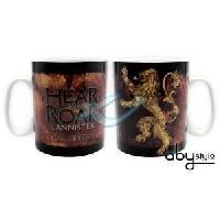 Service Petit Dejeuner Mug Games Of Thrones - Mug - 460 ml - Lannister - porcelaine avec boite - ABYstyle