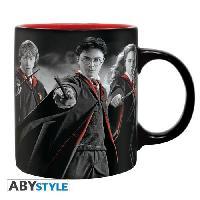 Service Petit Dejeuner Mug Harry Potter - 320 ml - Harry. Ron. Hermione - avec boite - ABYstyle