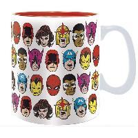 Service Petit Dejeuner Mug Marvel - 460 ml - Marvel Heads - boite - ABYstyle