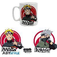 Service Petit Dejeuner Mug Naruto Shippuden - 460 ml - Naruto et Kakashi - avec boite - ABYstyle