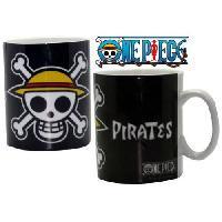 Service Petit Dejeuner Mug One Piece - 460 ml - Luffy's Pirates - porcelaine avec boite - ABYstyle