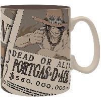 Service Petit Dejeuner Mug One Piece - 460 ml - Wanted Ace - porcelaine avec boite - ABYstyle