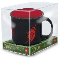 Service Petit Dejeuner Mug Petit Dejeuner - STOR - The Legend of Zelda - Epee et Bouclier de Link - En Ceramique