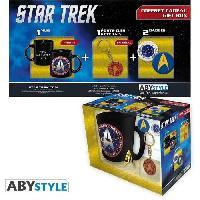 Service Petit Dejeuner Mug + Porte-cles + Badges Star Trek - Starfleet