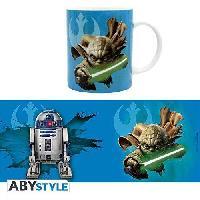 Service Petit Dejeuner Mug Star Wars - 320 ml - Yoda et R2D2 - avec boite - ABYstyle