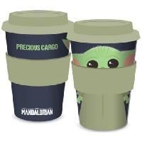 Service Petit Dejeuner Mug de voyage Baby Yoda The Child Star Wars - Mandalorian - 400ml - Vert et noir