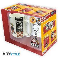 Service Petit Dejeuner Pack Mug + Porte-cles + Badges One Piece - New World - ABYstyle