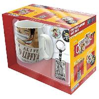 Service Petit Dejeuner Pack Mug + Porte-cles + Badges One Piece - Wanted - ABYstyle