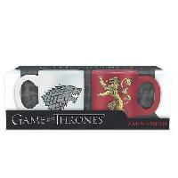 Service Petit Dejeuner Set de 2 Mugs Games Of Thrones - 2 mugs a espreso - 110 ml - Stark & Lannister - ABYstyle