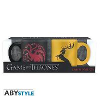 Service Petit Dejeuner Set de 2 mugs Game Of Thrones - 2 mugs a espresso - 110 ml - Targa. et Barath. - ABYstyle