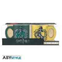 Service Petit Dejeuner Set de 2 mugs Harry Potter - 2 mugs a espresso - 110 ml - Serpent. et Pouf. - ABYstyle