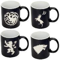 Service Petit Dejeuner Set de 4 mugs - Game Of Thrones - Collector's Edition Aucune